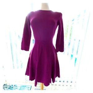 Long Sleeve Magenta Dress, perfect for work.